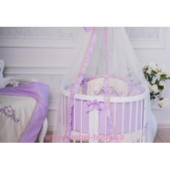 Набор постельного белья Mon Amie (6 предметов) лиловый