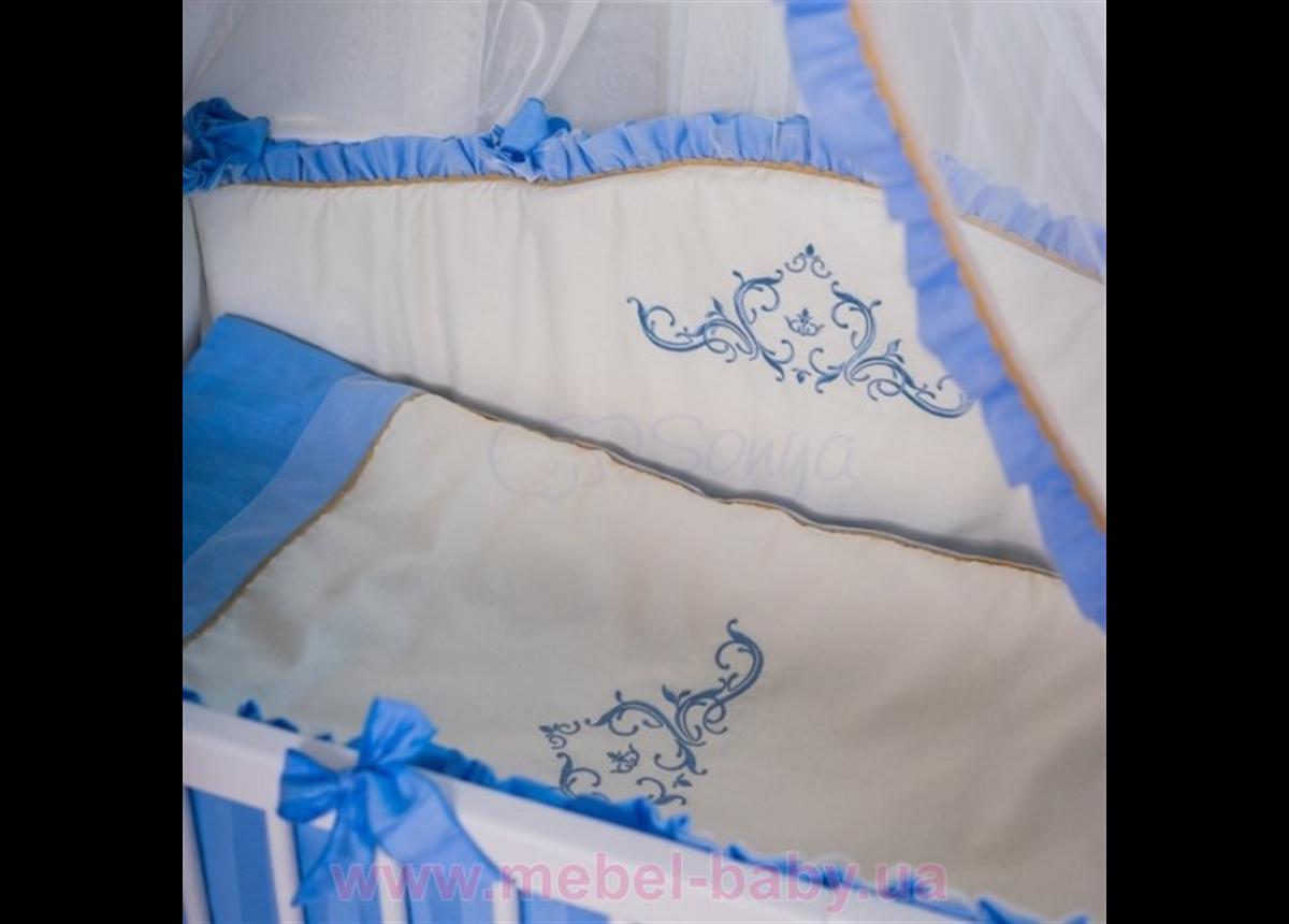 Спальный комплект постельного белья Mon Amie голубой