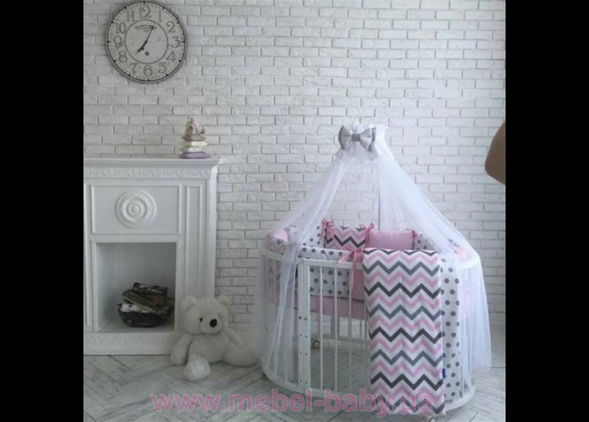 Сменный комплект постельного белья Бейби дизайн Premium indigo розовый