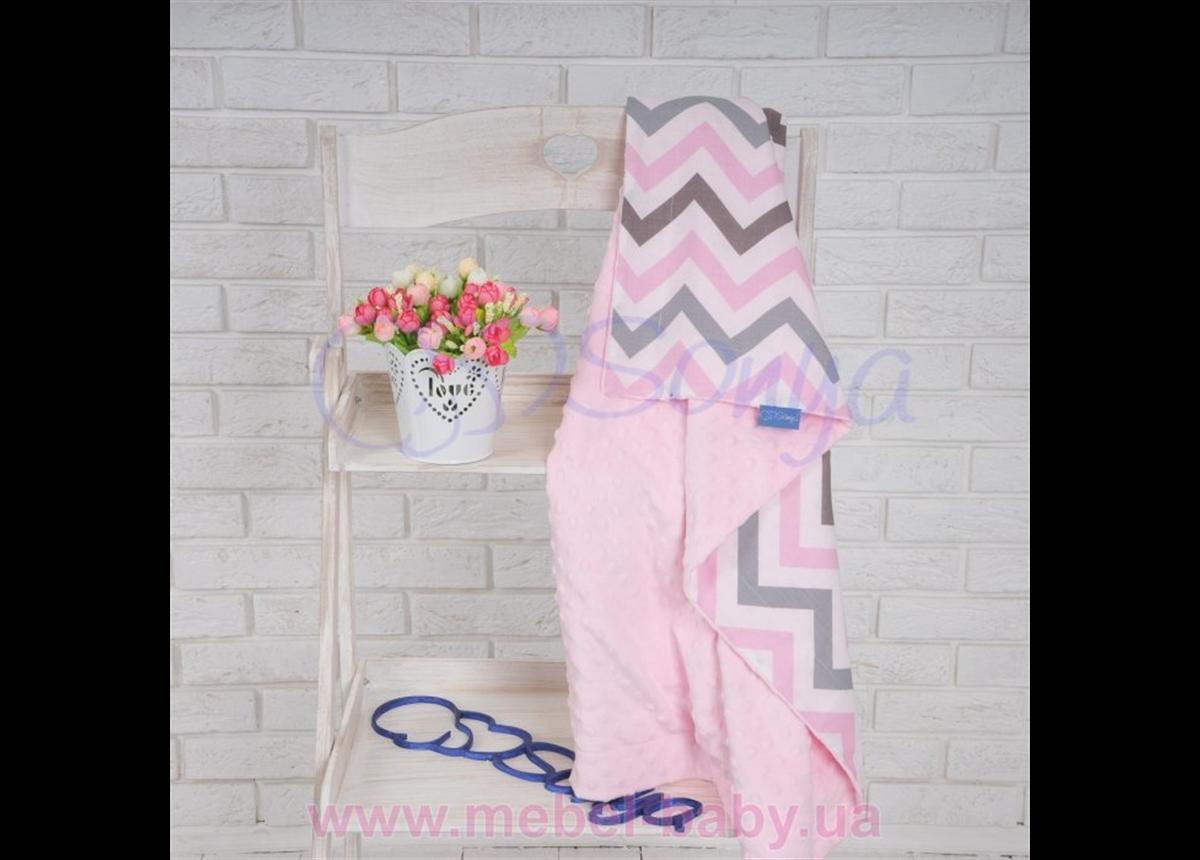 Плед Minky Indigo розовый плюшевый 80x100