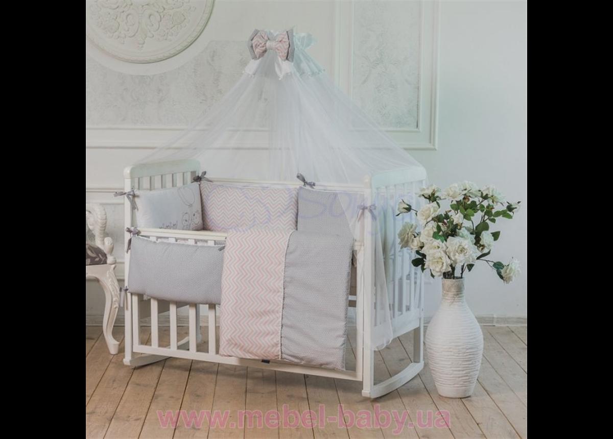 Набор постельного белья Mi-mi-mi (7 предметов) розовый