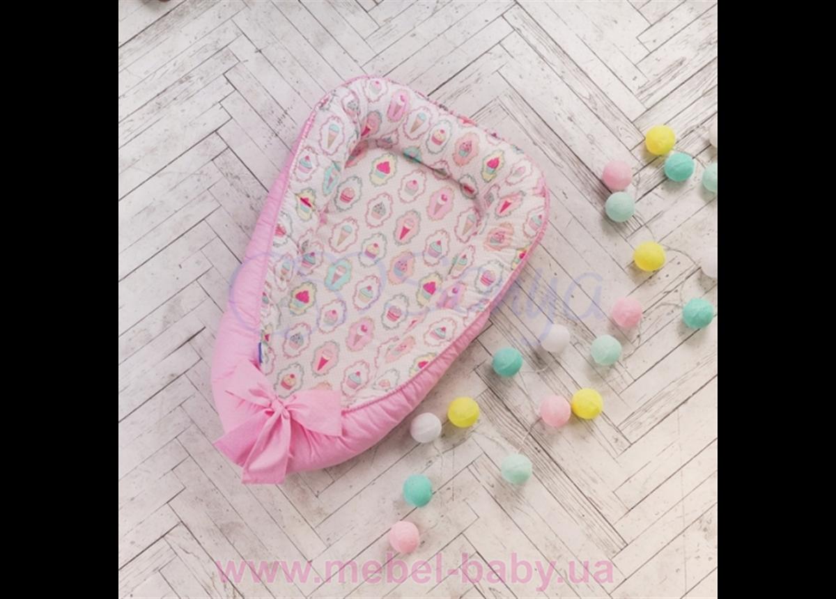 Кокон (Позиционер) Baby Design Premium Пирожные Маленькая Соня