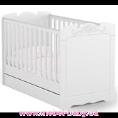 Не качающаяся кроватка для новорожденных Baby Серия Bianco Fiori 431 Meblik Белый 70х140
