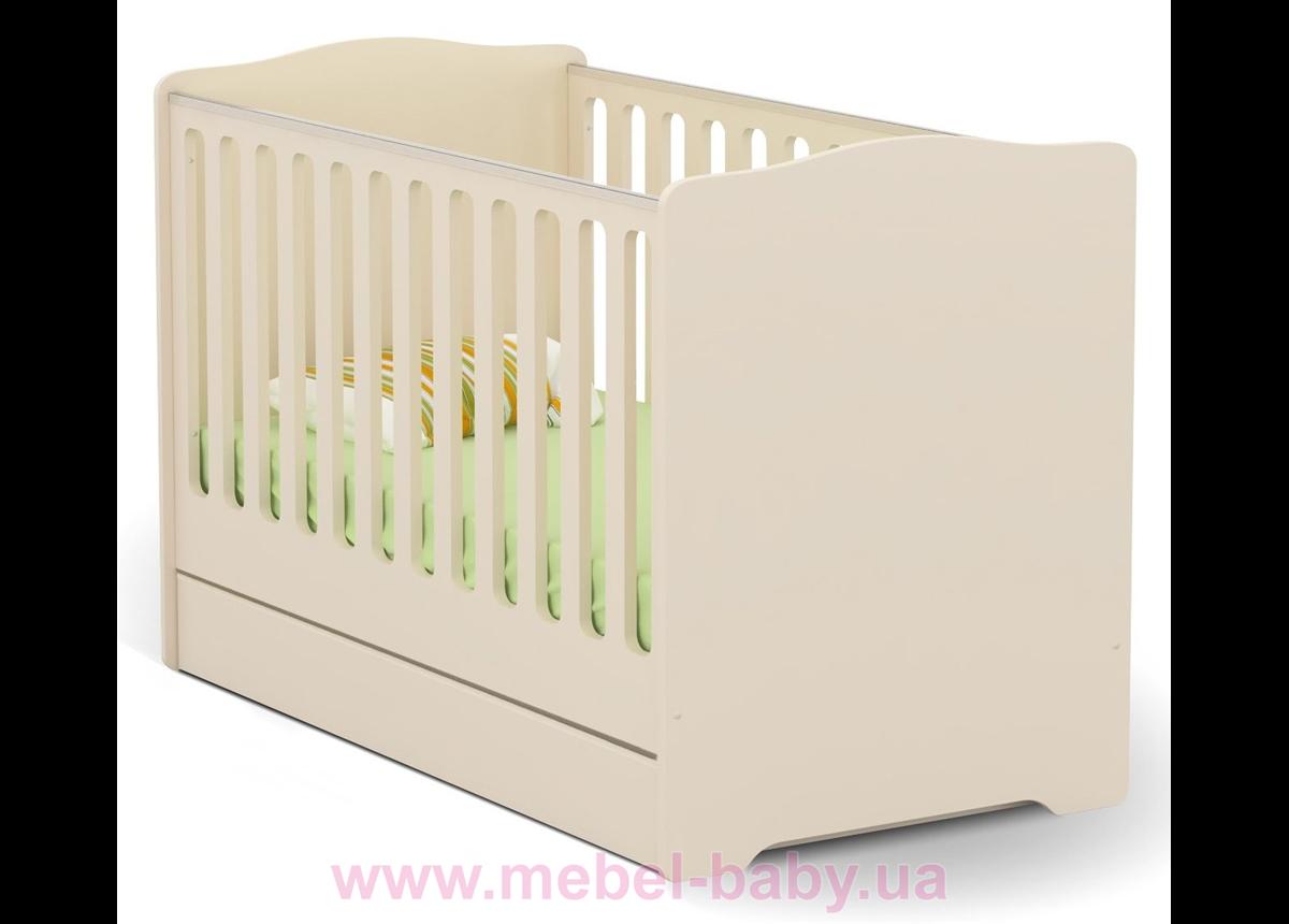 Не качающаяся кроватка для новорожденных Vanilla Mix 431 Meblik Бежевый 70х140