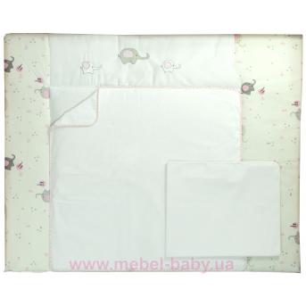 """Cповивальний матрац (72*80) Veres""""Elephant pink"""""""