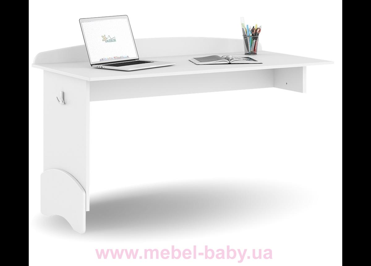 451_Письменный стол UP 120 Mix Meblik white