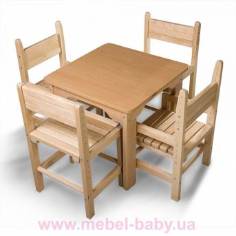 Детский стол и стул буковый Baby-5 Sportbaby