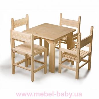Детский стол и стул сосновый Baby-4 Sportbaby