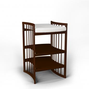 Пеленальный столик-трансформер 5 в 1 BABYCARE IngVart темный орех