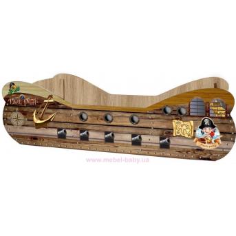 """Кровать """"Пиратский корабль"""" KP-0003 Viorina-Deko 80x160 + выездной ящик"""