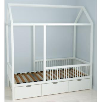 Кровать-домик BabyLodge 001 с ящиком IngVart 70x160