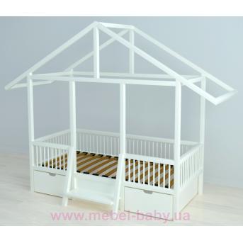 Кровать-домик BabyLodge 004 с ящиком IngVart 70x160