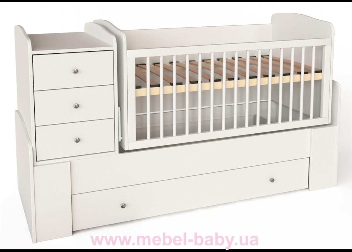 """Кровать-трансформер для новорожденных """"Волна"""" IngVart 60x120"""