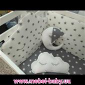 Круглая кроватка Mercy-Mama Mama 60x120 Mamma