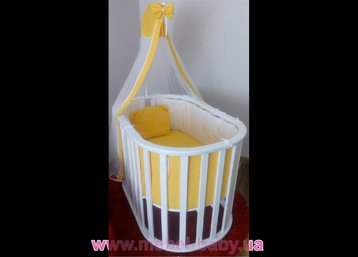Круглая кроватка Mercy-Mama MUSTY Playpen 70x110 Mamma