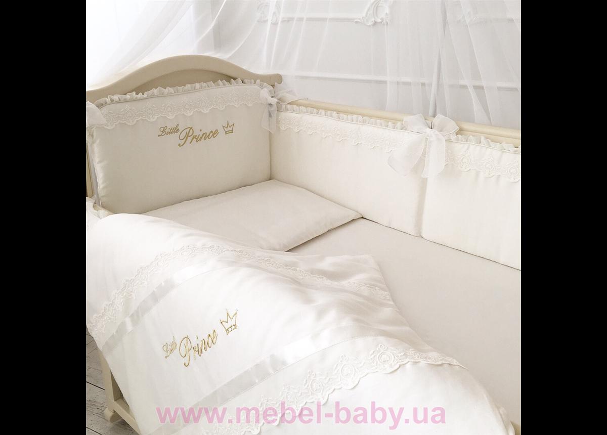 Набор постельного белья Маленький принц(6 предметов) молочный сатин