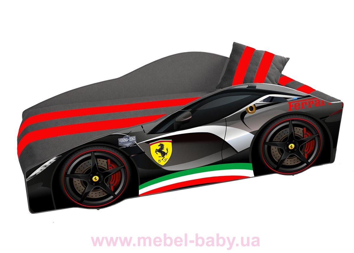 Кровать-машина Ferrari E-2 Элит Viorina-Deko 80x170 мягкий спойлер + подушка
