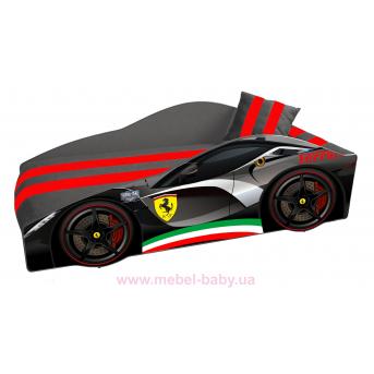 Кровать-машина Ferrari E-2 Элит Viorina-Deko 80x170 мягкий спойлер + подушка + ящик