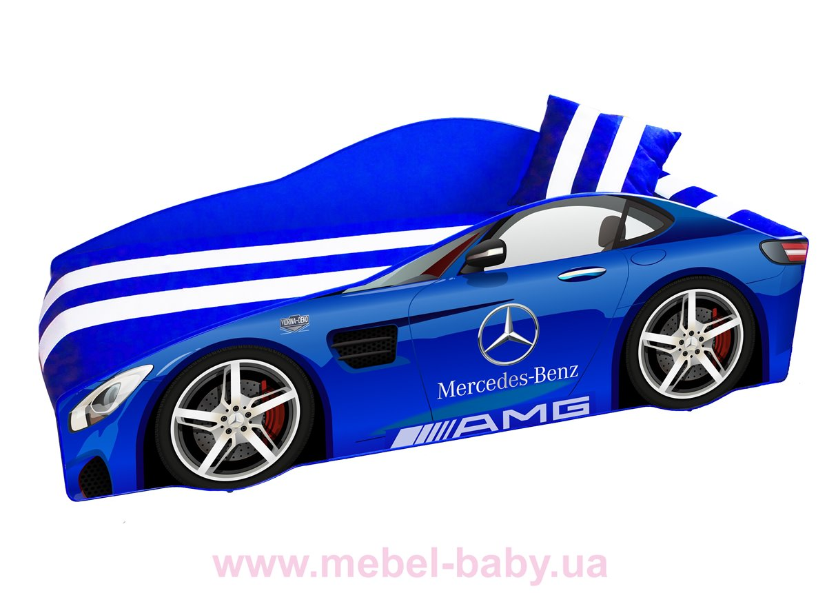 Кровать-машина Mercedes E-4 Элит Viorina-Deko 70х150 мягкий спойлер + подушка + ящик