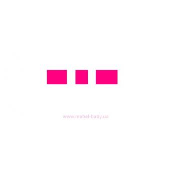 Мягкий розовый спойлер для кровати-машинки Элит Viorina-Deko 80х170