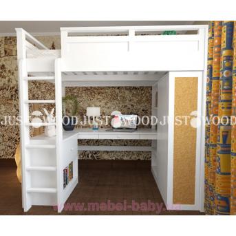 Кровать детская двухъярусная полный комплект 2 Лофт Justwood