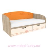 Кровать T-L-02 Edican Троянда оранжевая