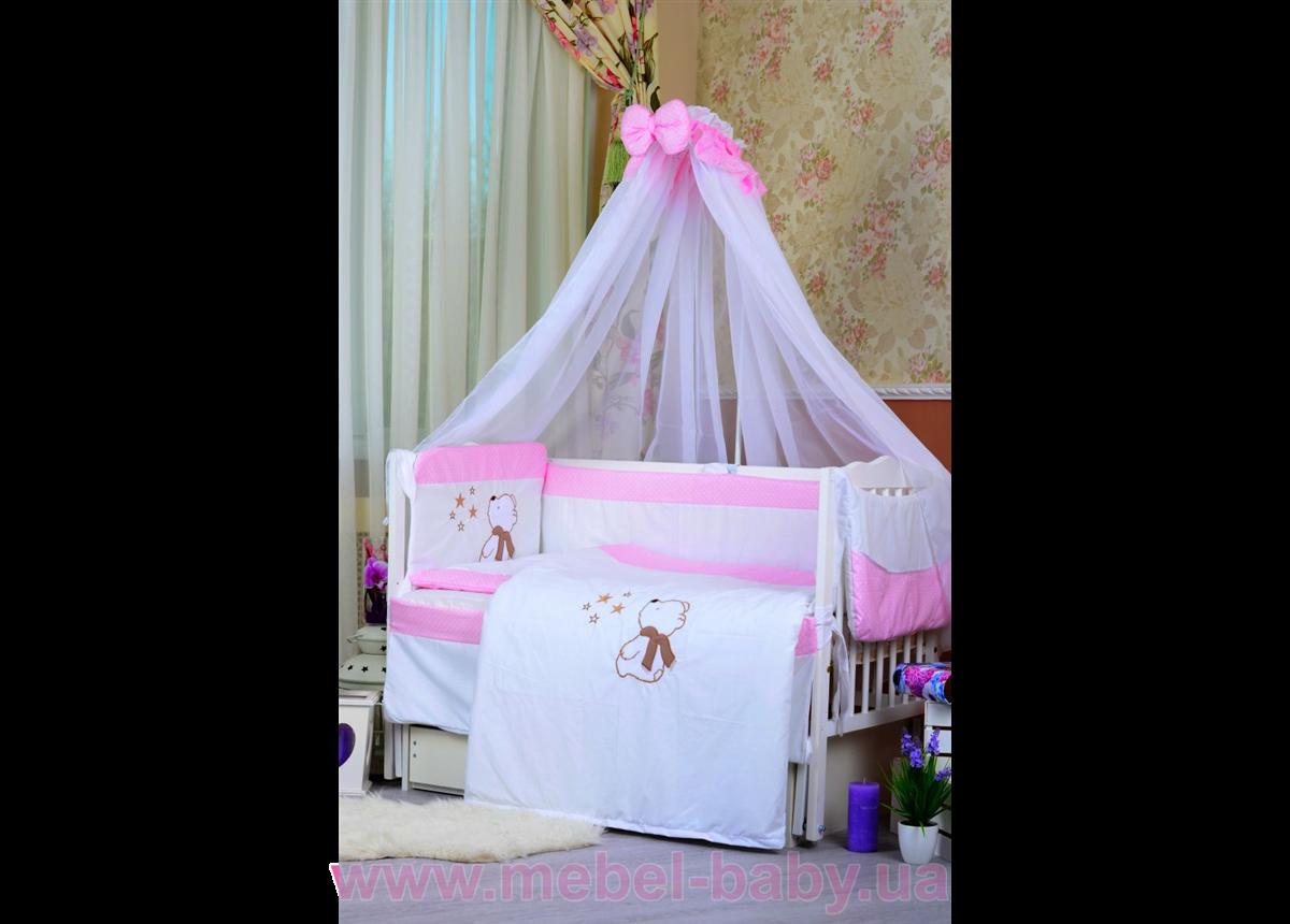 """Комплект постельного белья """"Звездочёт"""", нежно-розовый в точечку Bepino"""