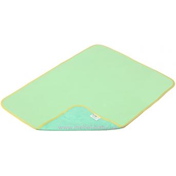 Пеленка двустороняя непромокаемая ЭКО ПУПС Jersey Classic р.65х90 см. (Зеленый) ПЕЛ-6590хбтрз