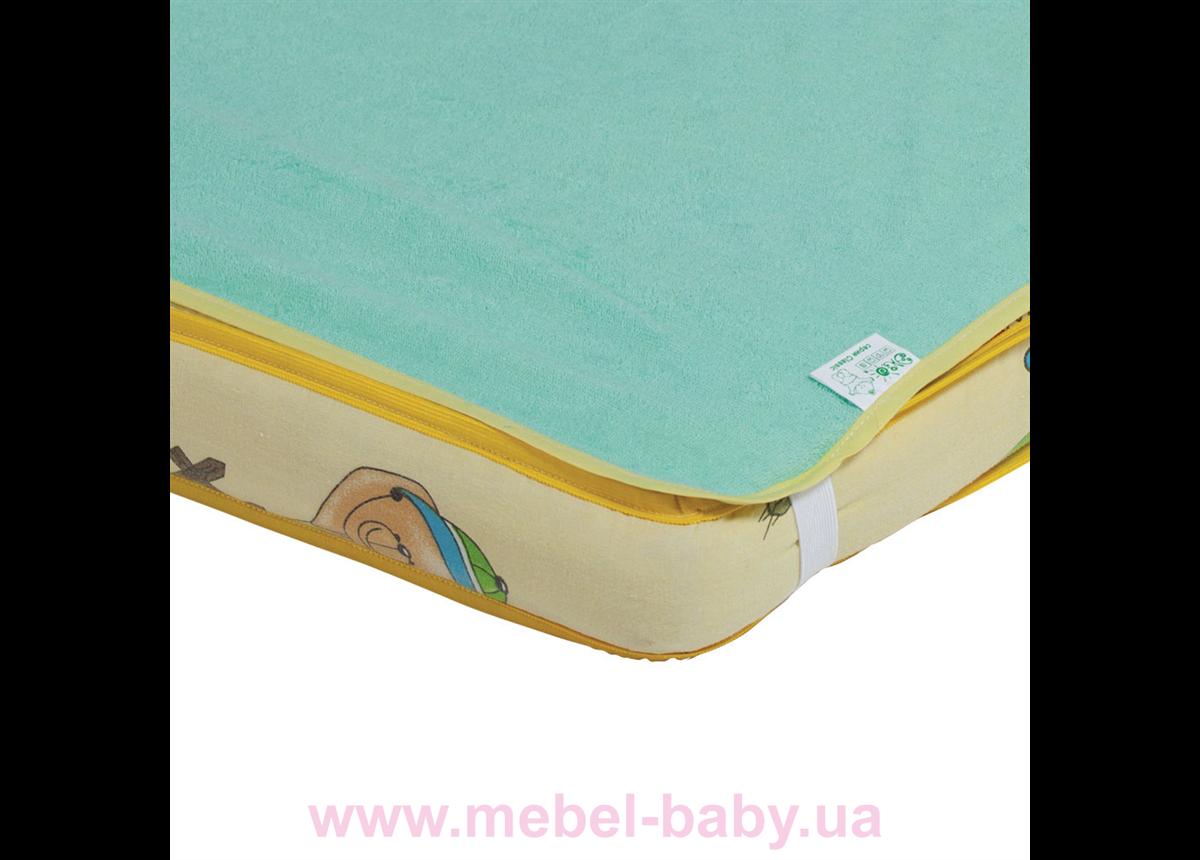 Наматрасник-пеленка 2в1 ЭКОПУПС Classic размер 60х80 см. (Зеленый) КНАМ6080з