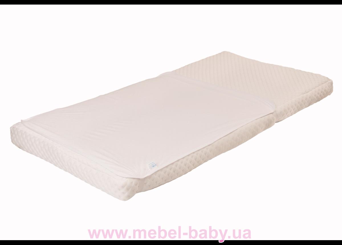 Наматрасник-пеленка 2в1 ЭКО ПУПС Premium размер 60х80 см. (Белый) ПНАМ6080б