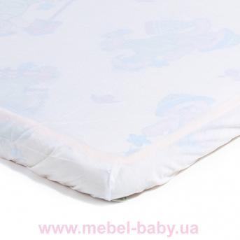 Детский непромокаемый наматрасник ЭКО ПУПС Чехол Premium, р. 80х35х6 см (Белый) ПНАМ8035б