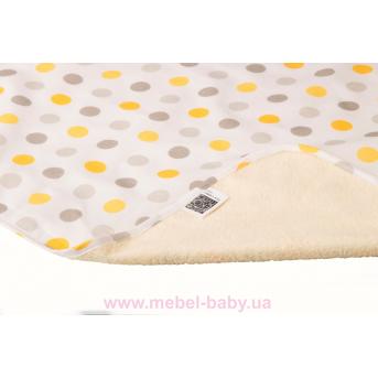 Пеленка двустороняя непромокаемая ЭКО ПУПС Eco Cotton р.65х90 см. (Горошек)