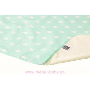 Пеленка двустороняя непромокаемая ЭКО ПУПС Eco Cotton р.65х90 см. (Звезды)