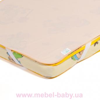 Детский непромокаемый наматрасник ЭКО ПУПС Поверхность Premium , р. 60х120 см. (Персиковый)