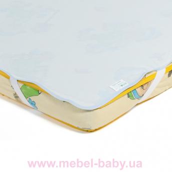 Детский непромокаемый наматрасник ЭКО ПУПС Поверхность Premium , р. 60х120 см.  (Синий)