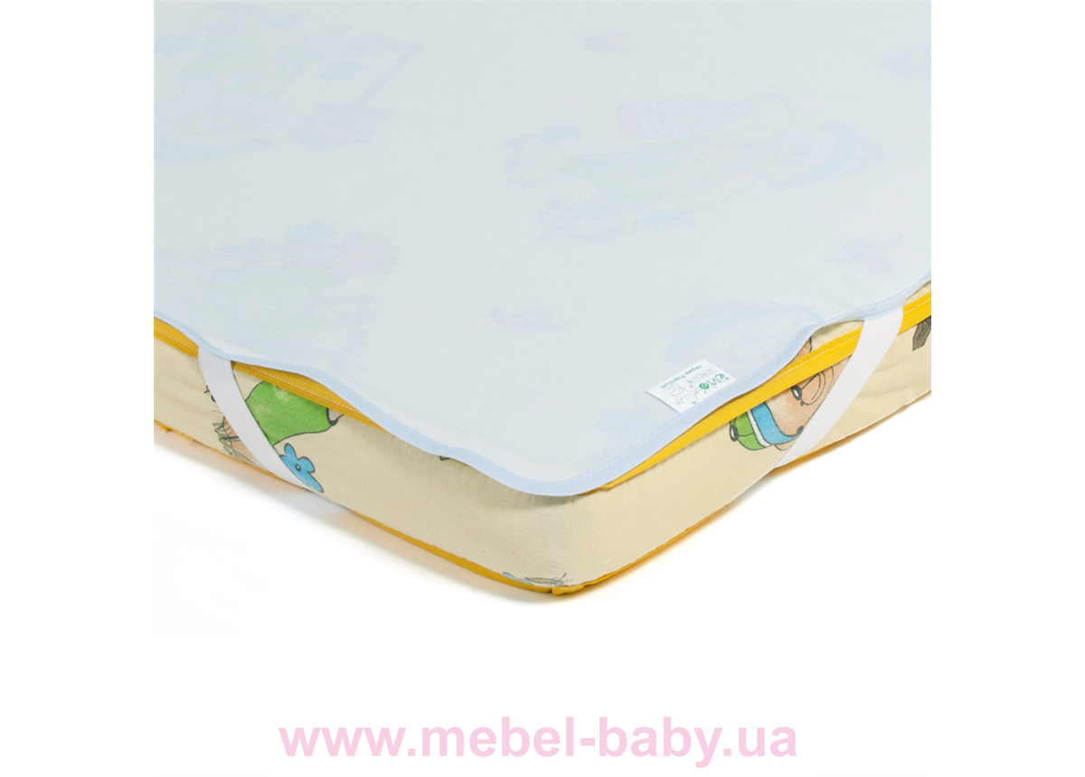 Детский непромокаемый наматрасник ЭКО ПУПС Поверхность Premium , р. 65х125 см. (Синий)