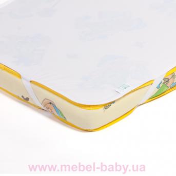 Детский непромокаемый наматрасник ЭКО ПУПС Поверхность Premium р. 65х125 см. (Белый)