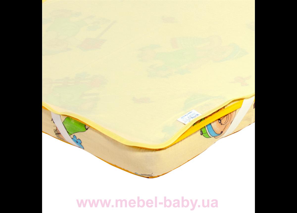 Детский непромокаемый наматрасник ЭКО ПУПС Поверхность Premium , р. 65х125 см. (Желтый)