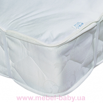 Детский непромокаемый наматрасник ЭКО ПУПС Поверхность Premium р. 80х160 см. (Белый)