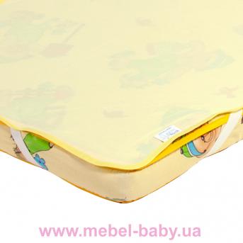 Детский непромокаемый наматрасник ЭКО ПУПС Поверхность Premium 60x120 желтый