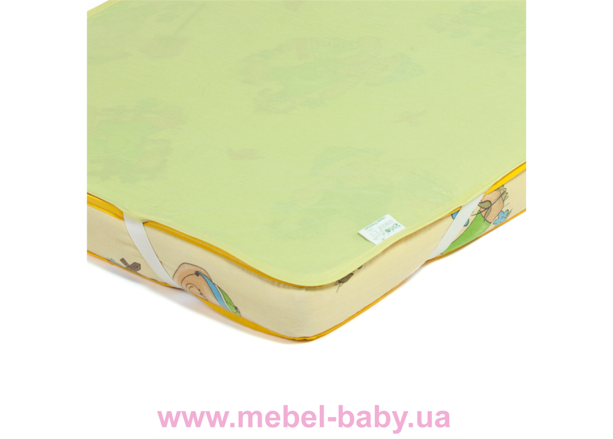 Детский непромокаемый наматрасник ЭКО ПУПС Поверхность Premium 60x120 зеленый