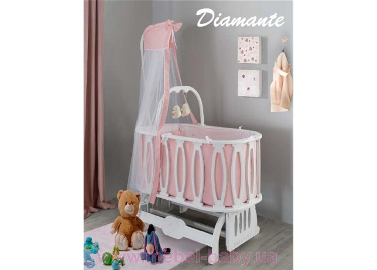 Круглая кроватка Diamante 54x92 Mamma