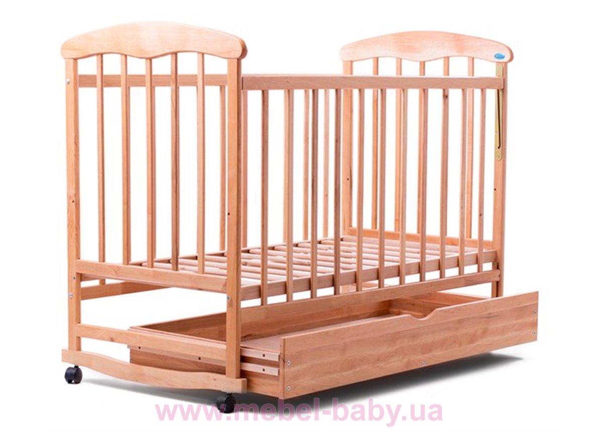 Кровать ОСЯ ящик ольха светлая 20007 Наталка 60x120