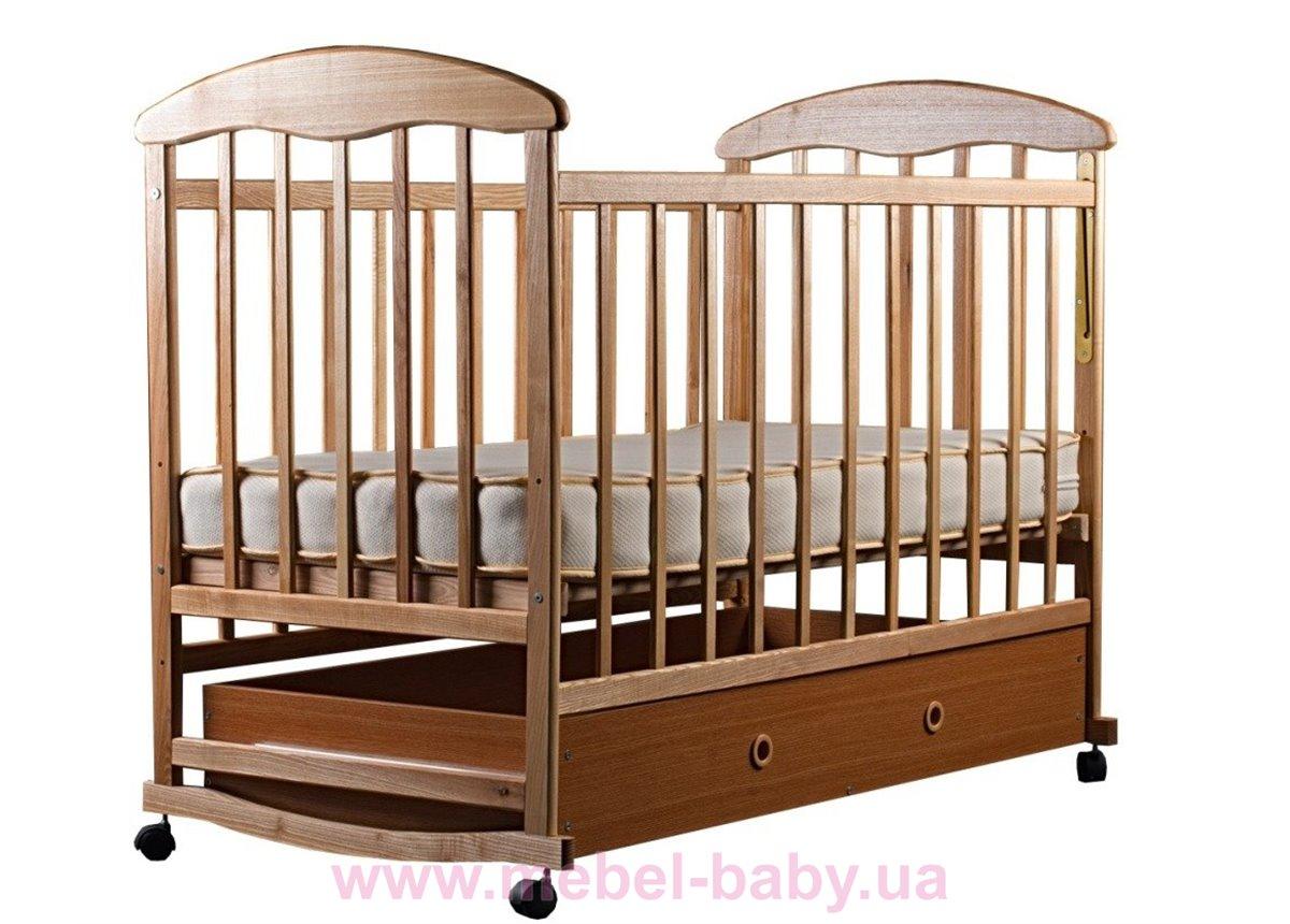 Кровать ЯСЯ ящик ясень светлый 60028 Наталка 60x120