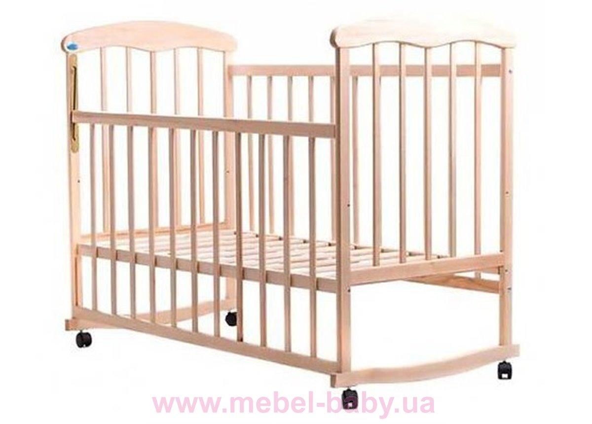 Кровать ОБЛ ольха светлая без лака 621669 Наталка 60x120