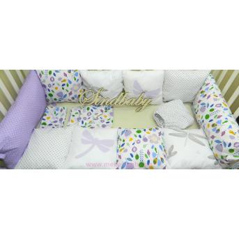Комплект в кроватку «Стрекоза» 10 бортиков с постельным Sindbaby