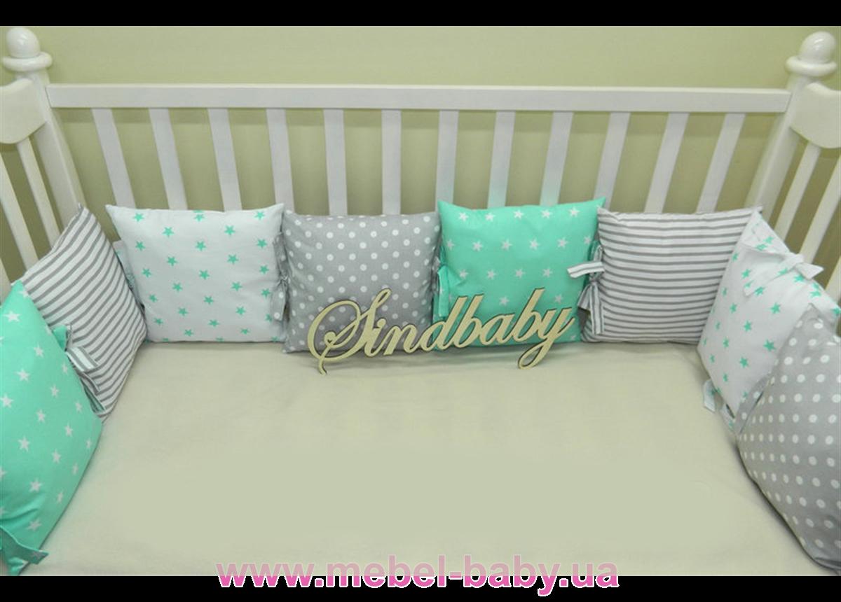 Бортики в кроватку Комплект №6 Sindbaby