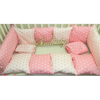Защитные бортики из сатина для детской кроватки -06 Sindbaby