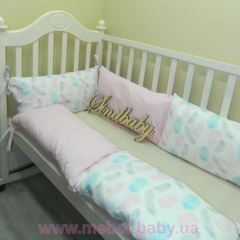 Защитные бортики из сатина для детской кроватки -09 Sindbaby