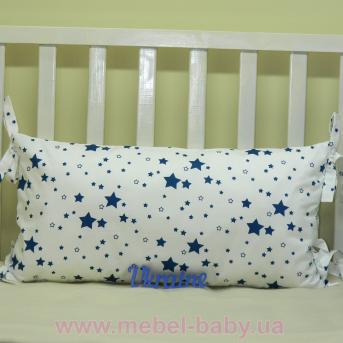 Бортики подушки в кроватку, Подушка сатин Sindbaby 30х60